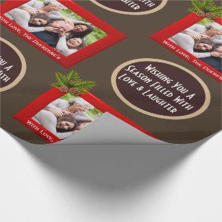 Papier Cadeau Une saison de Noël d'amour et de rire