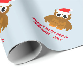 Papier Cadeau Vacances mignonnes de coutume de hibou de ęr Noël