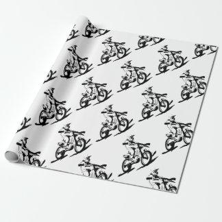 Papier Cadeau Vélo et cavalier simples de Motorcross
