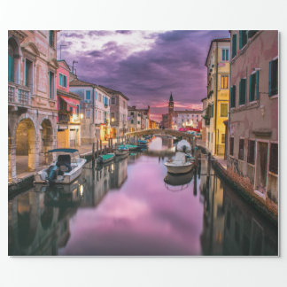 Papier Cadeau Venise, canal pittoresque de l'Italie et