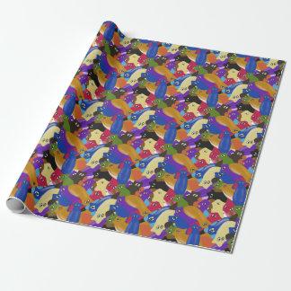 Papier Cadeau Vers de planarian observés par croix folle colorée