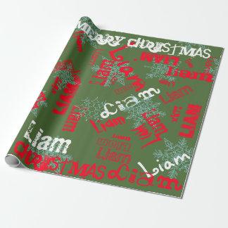 Papier Cadeau Vert changeant nommé de Camo d'enveloppe de cadeau