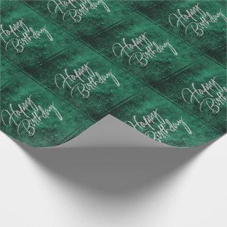 Papier Cadeau Vert chic vert   d'aquarelle de jade de