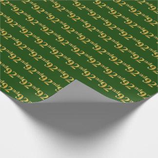 Papier Cadeau Vert, événement d'or quatre-vingt-douzième de Faux