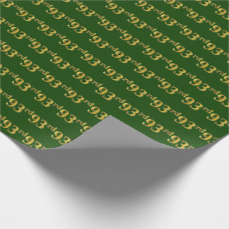 Papier Cadeau Vert, événement d'or quatre-vingt-treizième de