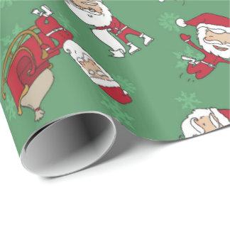 Papier Cadeau Vert métallique maigre très joyeux d'enveloppe de
