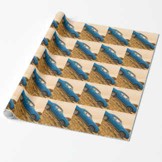 Papier Cadeau Vieux barracuda bleu de Plymouth