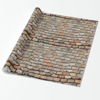 Papier Cadeau Vieux maçonnage de brique