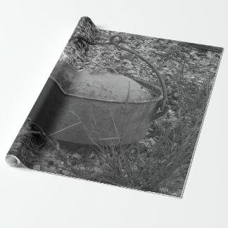 Papier Cadeau vieux pot en noir et blanc