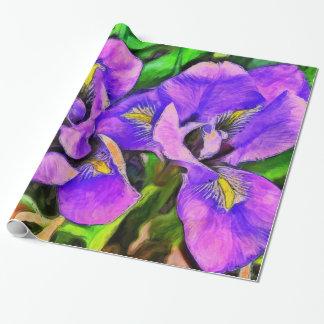 Papier Cadeau Violette de couleur d'iris