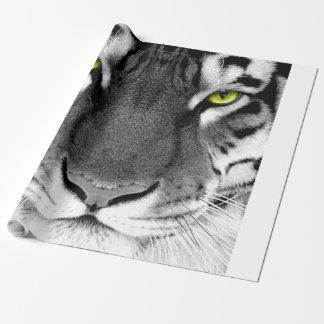 Papier Cadeau Visage de tigre - tigre blanc - tigre de yeux -