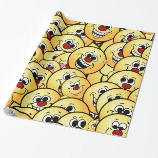 Papier Cadeau Visages souriants heureux de Grumpeys réglés