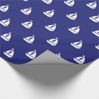 Papier Cadeau Voile loin sur l'enveloppe de cadeau bleue