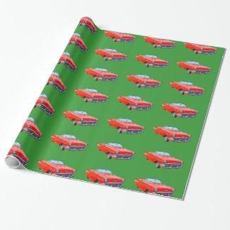 Papier Cadeau Voiture ancienne 1957 de convertible de Bel Air de