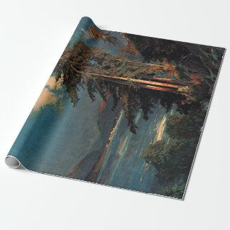 Papier Cadeau Voyage vintage de la France de forêt de montagne