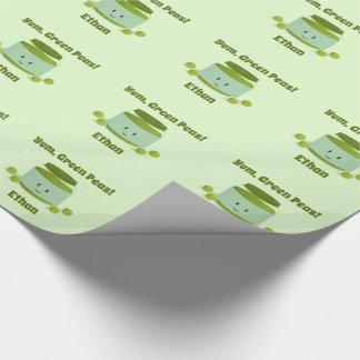 Papier Cadeau Yum papier d'emballage des pois |