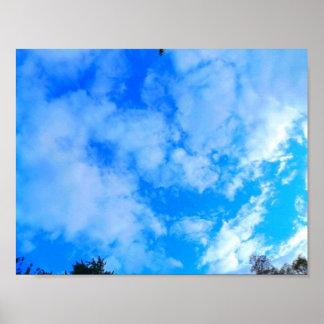 Papier d'affiche de valeur de ciel bleu (mat) posters
