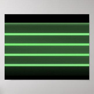 papier d'affiche vert clair noir de valeur (mat) poster
