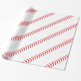 Papier de cadeau de partie de base-ball de papiers cadeaux noël