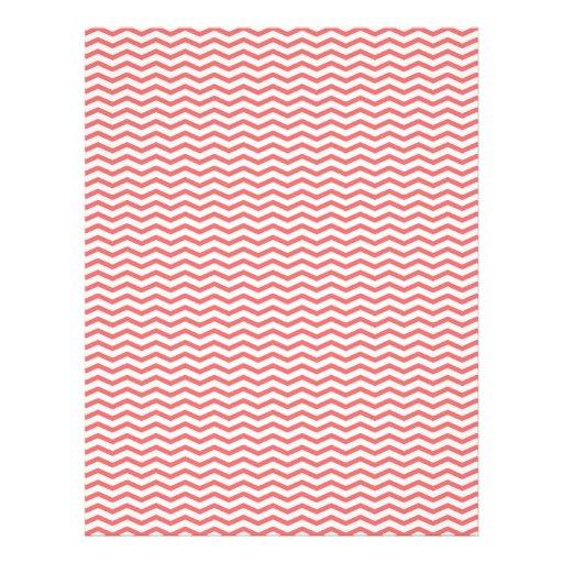 Papier de corail de Chevron/album à zigzag Prospectus En Couleur