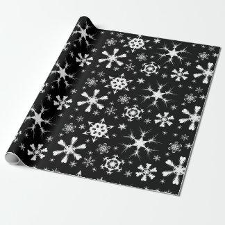 Papier de Noël de flocon de neige Papier Cadeau