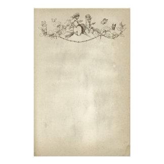 Papier de papeterie d'anges de Saint-Valentin