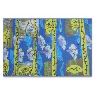 Papier de soie de soie abstrait dans vert et le