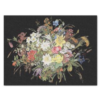 Papier de soie de soie alpin de bouquet de fleurs