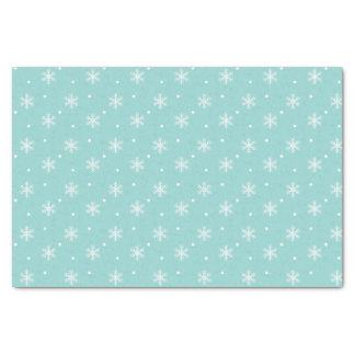 Papier de soie de soie assez bleu de motif de