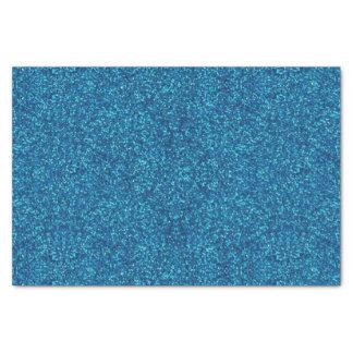 Papier de soie de soie bleu de scintillement