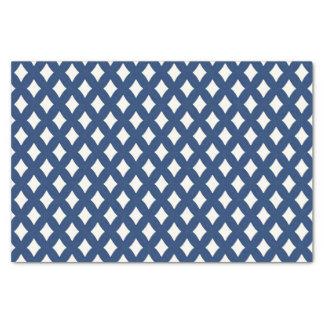 Papier de soie de soie bleu et blanc moderne de