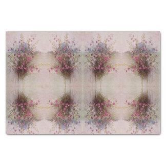Papier de soie de soie botanique de fleur sauvage