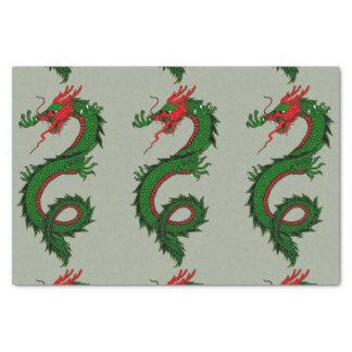 Papier de soie de soie chinois de dragon