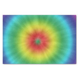 Papier de soie de soie coloré de motif de colorant