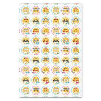 Papier de soie de soie coloré d'Emoji