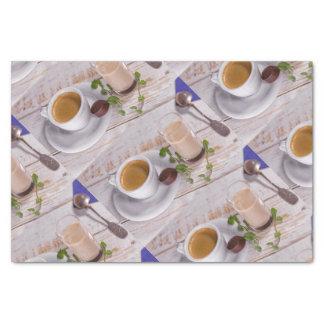 Papier de soie de soie confortable de café