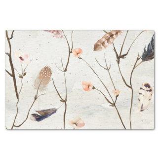 Papier de soie de soie d'arbre de plume