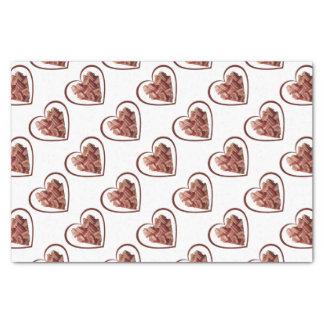 Papier de soie de soie de coeur de lard