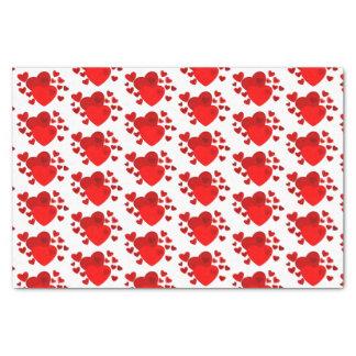 Papier de soie de soie de coeurs de Valentine