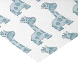 Papier de soie de soie de girafes de bleus layette