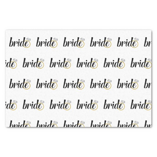 Papier de soie de soie de jeune mariée