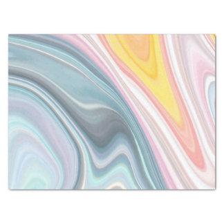 Papier de soie de soie de marbre abstrait de