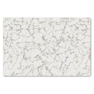 Papier de soie de soie de marbre blanc