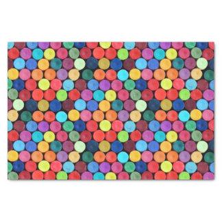 Papier de soie de soie de point de polka de crayon