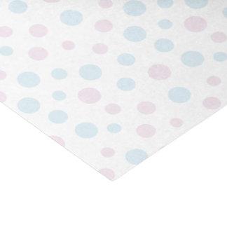 Papier de soie de soie de points de rose en pastel