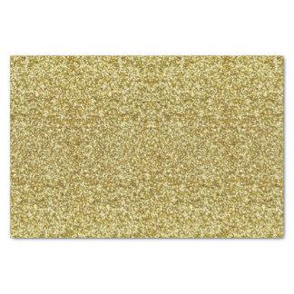 Papier de soie de soie de scintillement d'or