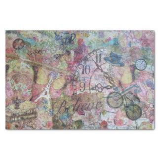 Papier de soie de soie décoratif