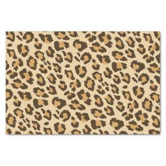 Papier de soie de soie d'empreinte de léopard