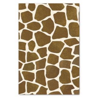 Papier de soie de soie d'impression de girafe