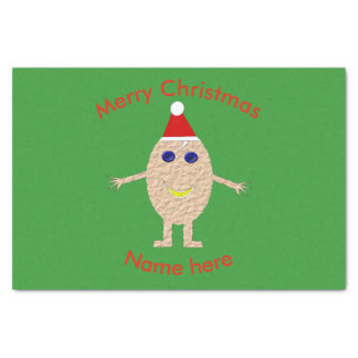 Papier de soie de soie drôle d'oeufs de Noël